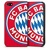 DeinDesign Apple iPhone 5 Leder Flip Case Tasche Hülle FCB Fanartikel Merchandise FC Bayern München