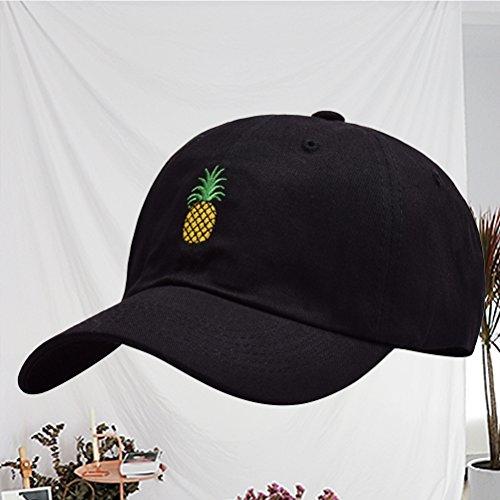 Action BESTOYARD Ananas Stickerei Twill Cotton Peaked Cap Baseball ... b859d34e09