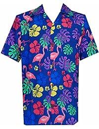 2fae112507b Alvish Hawaiian Camiseta para Hombre Flamenco Hoja de impresión Playa Aloha  Party Ricos
