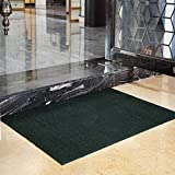 Felpudos Impermeable Antideslizante Fácil Limpieza por Mat, Alfombra De Cocina Patrón Geométrico Alfombra Interior Y Exterior-Verde 20x31inch