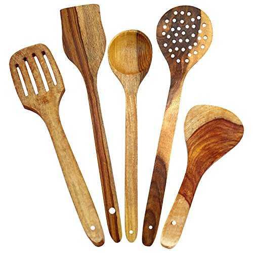 Aarsun-Woods-Spoon-Set-For-Kitchen-Wooden-SpatulaSet-Of-5