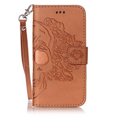 Nouveau style pressé en relief fleurs Windchime motif rétro Folio Flip Stand Wallet Case avec une dragonne pour Apple IPhone 6S Plus ( Color : 5 , Size : IPhone 6S Plus ) 9