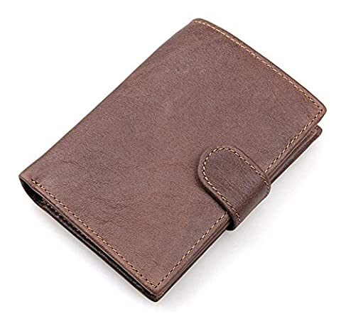 YAAGLE Vintage Genuine Leather Anti-scan Coin Pocket Purse Fold Wallet With Card Holder