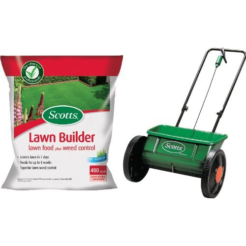 scotts-lawn-builder-8-kg-lawn-food-plus-weed-control-with-miracle-gro-evengreen-drop-spreader-bundle