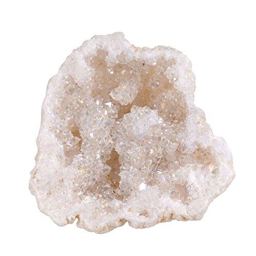 JOVIVI Bergkristall Naturstein 1 Stück Drusensegment Rohstück Druse klein Unregelmäßigen Naturstück Stein Dekoration Grundfarbe