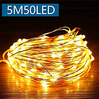 Cadena Luces LED,luz de navidad alambre de cobre impermeable,blanco cálido,guirnalda de luces,Ideales para Navidad,hogar,fiesta,boda,jardín,día festivo, Festival,decoración para navidad