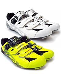 VeloChampion Zapatillas de ciclismo (par) VCX con planta de fibra de carbono White/Silver/Black 42