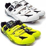 VeloChampion Zapatillas de ciclismo (par) VCX con planta de fibra de carbono White/Silver/Black 46