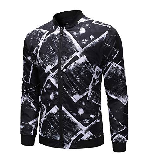 Luckycat Herren Herbst Winter Outdoor Tasche Reißverschluss gedruckt Sport Outdoor Bluse Mantel Mode 2018