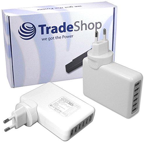Universal 6fach USB 220V 7A Mehrfachsteckdose Netzteil Adapter Ladegerät für viele Geräte Handy Smartphone Tablet e-Book-Reader Navigationsgerät Bluetooth Speaker Headset