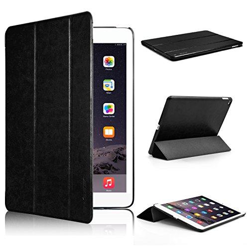 Swees® Apple iPad Air 2Hülle–Ultra Slim Leder Schutzhülle für Apple iPad Air 2[6. Generation 2014Release] mit magnetischer Wake & Sleep Funktion–Schwarz