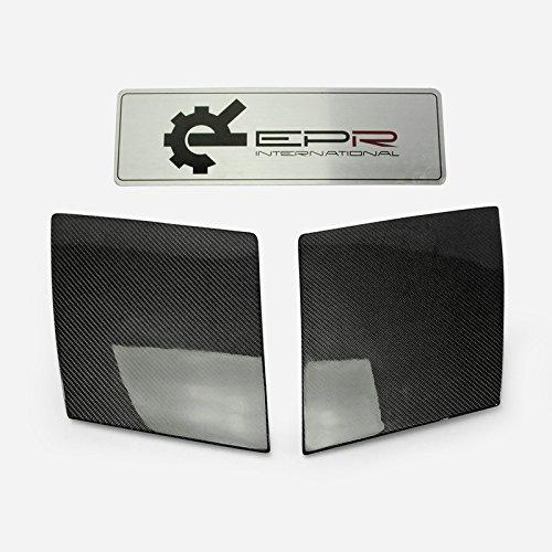 Karbonfaser für Mazda RX7RX-7FC3S Scheinwerferblenden OEM Style Air Duct Belüftungsöffnungen Tunnel ersetzen Ersatz Einlage Montage Paar