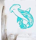 wandaufkleber kinderzimmer tiere Haifisch-Meeresfisch-Raubfisch-Seestil