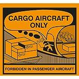 Aufkleber Nur für Frachtflugzeuge (Cargo Aircraft Only), gebraucht kaufen  Wird an jeden Ort in Deutschland