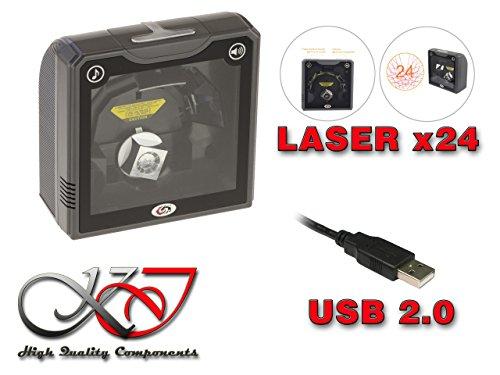 KALEA INFORMATIQUE  Douchette Scanner à Poser de Type Caisse Point de  Vente  Multidirectionnel 24 Lignes Laser  1620 Scans/S  pour Tous Les Codes