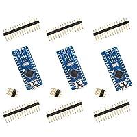 ELEGOO For Arduino Nano V3.0, Nano board CH340/ATmega328P, compatible with Arduino Nano V3.0 (pack of 3) ...