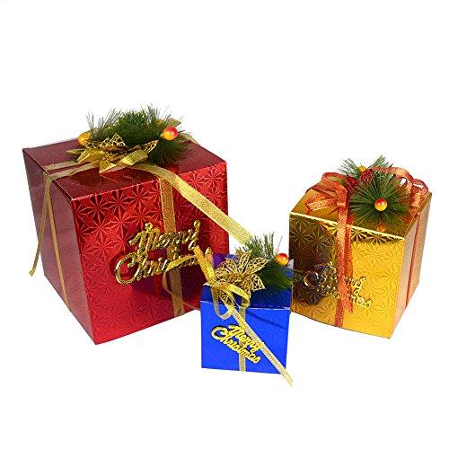 Set von 3Differen Farbe Weihnachten Geschenk-Box Xmas Tree Ornaments Szene Layout (Christmas Tree Ornament Animated)