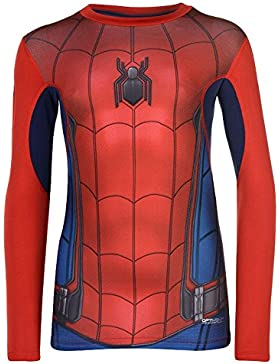 Marvel Niños Top Camiseta Manga Larga de Spiderman 11-12 Años