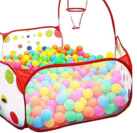 Covermason Pop-up hexagone Polka Dot enfants boule jouer tente transporter Tote struture