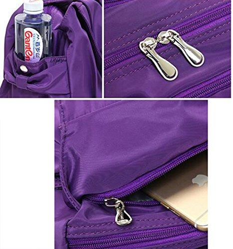 Fansela Fashion Freizeittasche Handtasche Damen Bag Schultertasche Nylon Tasche Shoulder Bag shopper, Grün Lila