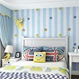 Mittelmeer Streifen Kinder Tapeten Wohnkultur Cartoon Sterne Wandpapierrolle Für Kinder Junge Mädchen Zimmer Wände 0,53X10 Mt