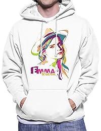 Geometric Celebrity Emma Watson Men's Hooded Sweatshirt