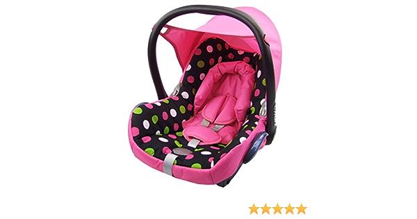 Bambiniwelt Ersatzbezug Für Maxi Cosi Cabriofix 6 Tlg Bezug Für Babyschale Komplett Set Schwarz Bunte Punkte Xx Baby