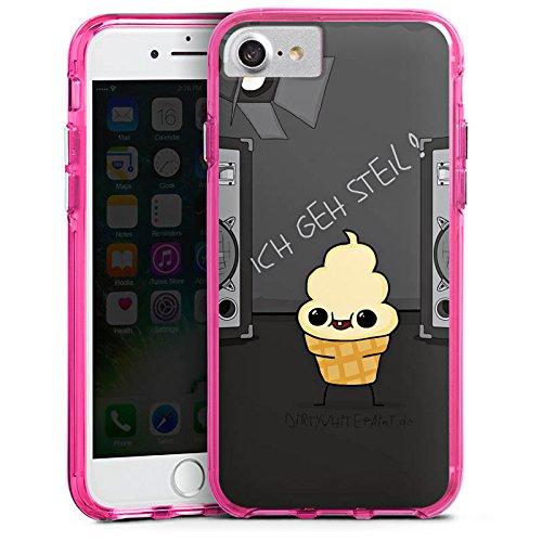 Apple iPhone X Silikon Hülle Case Schutzhülle DirtyWhitePaint Fanartikel Merchandise ICH GEH STEIL Bumper Case transparent pink