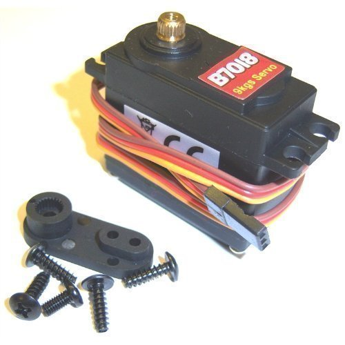 BSD B7018 1/8 1/10 Scale Nitro RC Car 9kg Throttle Steering Servo and Horns EP GP Metal