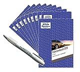 Avery Zweckform 223 Fahrtenbuch für PKW (A5, 40 Blatt) weiß Aktionspack 10 Fahrtenbücher+ Kugelschreiber Notizio