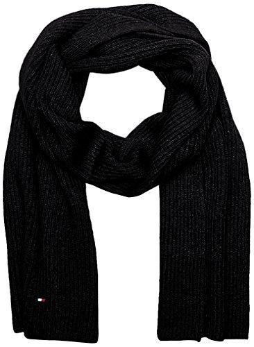 Tommy Hilfiger Herren Schal Pima Cotton Cashmere Scarf, Schwarz (Black 002), One size (Herstellergröße: OS) (Herren-schal)