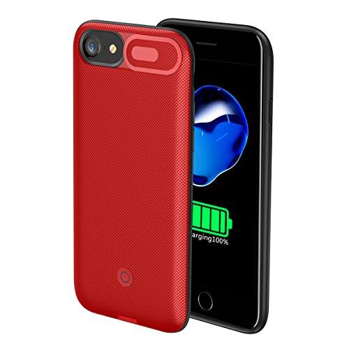 iPhone 6 iPhone 6s iPhone 7 iPhone 8 4.7 inch Akku Case Hülle Power Bank Schutzhülle Handyhülle Akkupack Wiederaufladbares externes mit Audioschutz Batterie Backcover Ladegerät Akku Smart Battery