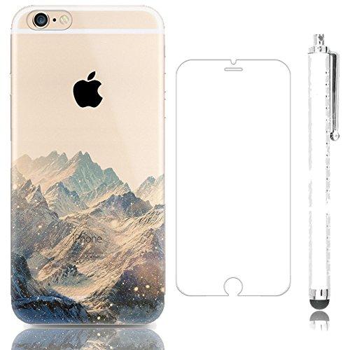 Sunroyal Kreativ Schutzhülle und HD Super Klare Displayschutzfolie für iPhone 7 4.7 Zoll Umwelt TPU Schutzhülle Praktisch Weichem Hochwertigem Silikon Silicone Bumper Case Cover + 2 IN 1 Dust Plug Ant Pattern 03