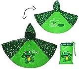 Unbekannt Regenponcho / Regencape -  lustiger Frosch  - Gr. 104 - 110 - 116 - 122 - 128 - Circa 3 bis 6 Jahre - für Kinder - Jungen Mädchen Frösche Tiere Fahrrad / Re..