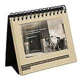 Goldbuch Foto-Tischaufsteller, Off-line Trend, 16 x 18 cm, Für 12 Fotos, Mit unterschiedlichen Sprüchen, Kunstdruck, Beige, 46602