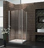 Echt Glas 8 mm Duschkabine Duschabtrennung Dusche Rahmenlos 90 x 90 x 190 cm SPA ohne Duschtasse