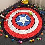 FLOWood Kinder Kinderteppich Teppich niedliche Baby matt-kinderzimmer Teppich Spielzeug Speicher Tasche 148cm (Captain America)