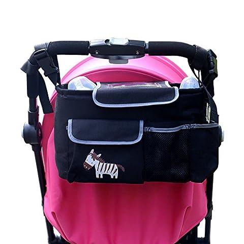 Buggy Poussettes Organiseur Sac Accessoires Baby Jogger avec porte-boissons Profitez