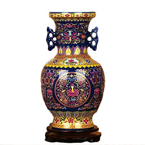 GSDQ Jingdezhen Keramik Hochwertige Kristallglasur Blaue Ohren umwickelte Lotusflasche Einfache Moderne Hauptdekoration Kaufen Sie EIN, erhalten Sie EIN freies