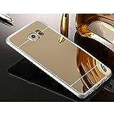 Sycode Luxuriös Silikon Hülle Dünne Verspiegelt Make Up Spiegel Weich Handy Tasche Etui für Samsung Galaxy S6 Edge-Gold