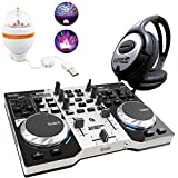 Hercules DJ Control Instinct S DJ controller Party Pack con Party Light Cuffie keepdrum immagine
