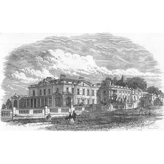 NORFOLK. Gunton Hall(Lord Suffield), Royal visit - 1865 - old print - antique print - vintage print - printed prints of Norfolk