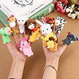 #5: Kuhu Creations® Supreme 12 Pcs Animal Finger Puppets with Monkey & Tiger for Baby Story Telling.