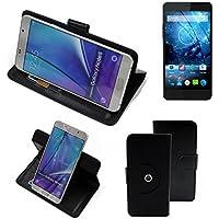 360 ° della copertura della cassa Smartphone Siswoo C55 Longbow, nero | Cassa del raccoglitore stand funzione Bookstyle. Migliore prezzo, migliore prestazione - K-S-Trade