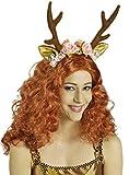 Rehlein-Haarreif mit Blumen | Einheitsgröße | Tier-Haarreifen für Reh-Kostüm