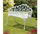 Suntime GF05502F 95 cm Perth White Cast Aluminium Bench - White
