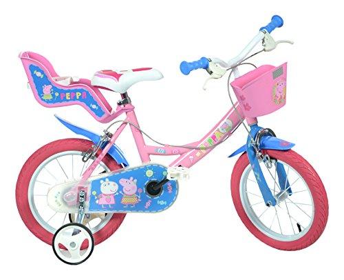 Dino Bikes 144r-pig Peppa Pig-Bicicleta, Color Rosa, 35,6cm