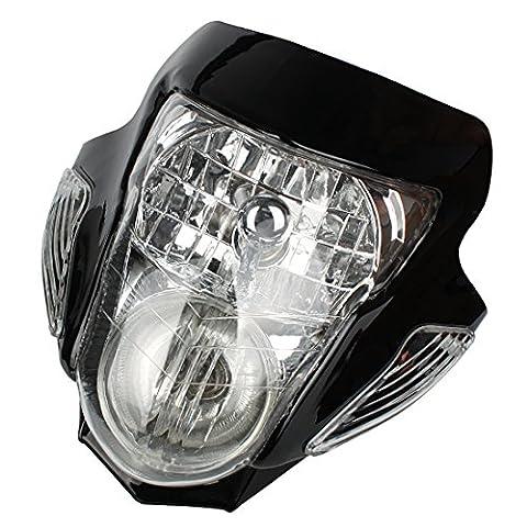 Andux Zone Moto Lumière de signalisation de phare avec boîtier