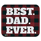Best Mouse Pad Gaming Mouse Evers - Best Dad Ever Red Black Plaid Low Profile Review