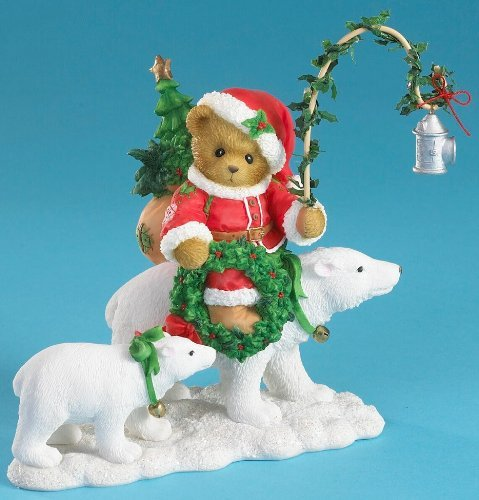 Cherished Teddies 2010 Cherished Teddies Santa Series Limited Edition Figurine - Brenden: A Winter Journey With Friends - 4016865